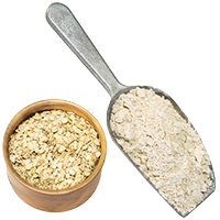 oatmeal and oat flour