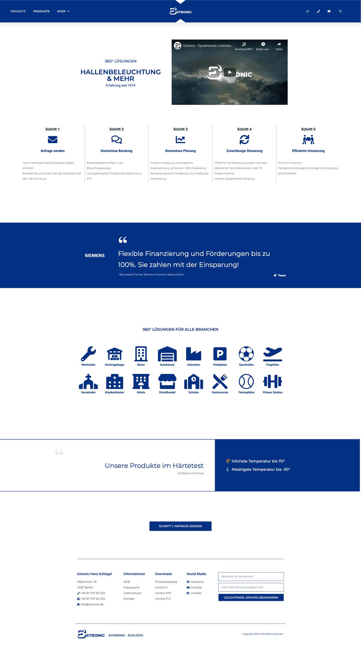 Webseiten-Layout 4 von extronic.de