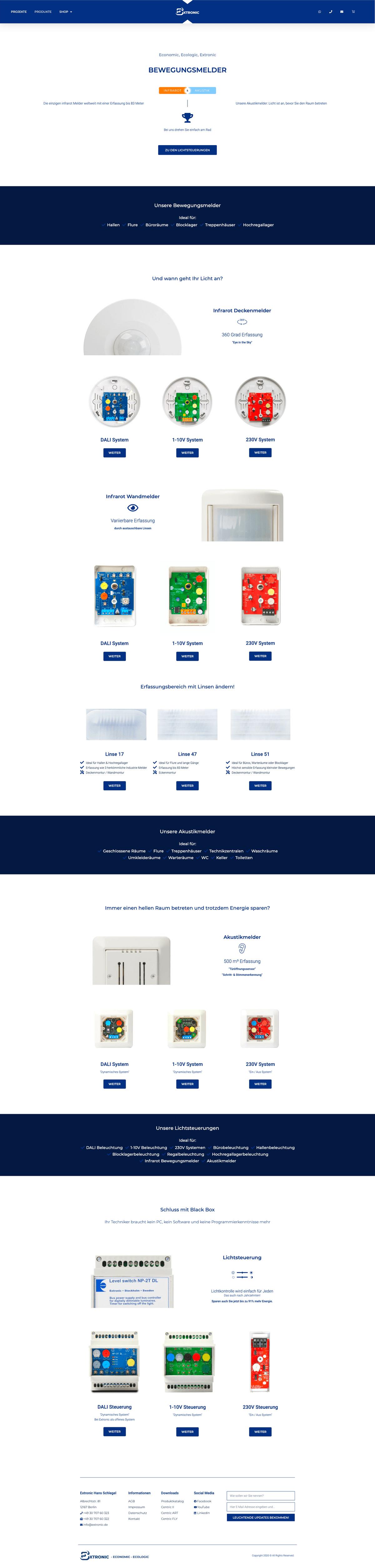 Webseiten-Layout 3 von extronic.de