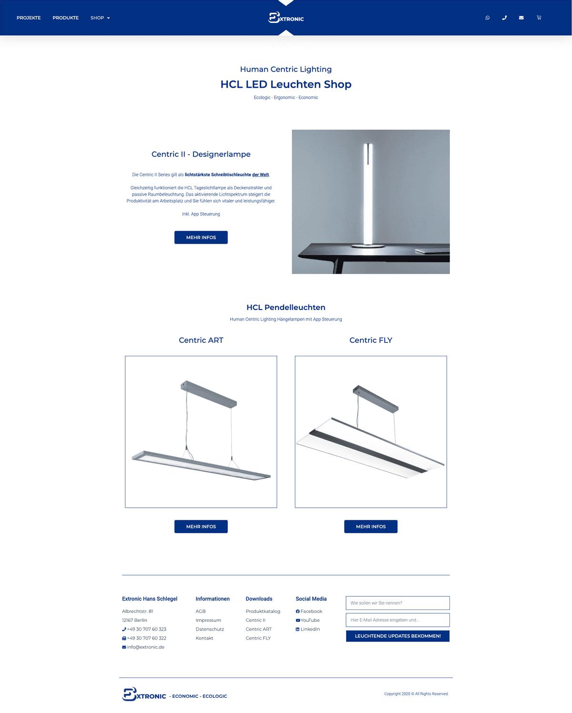 Webseiten-Layout 2 von extronic.de