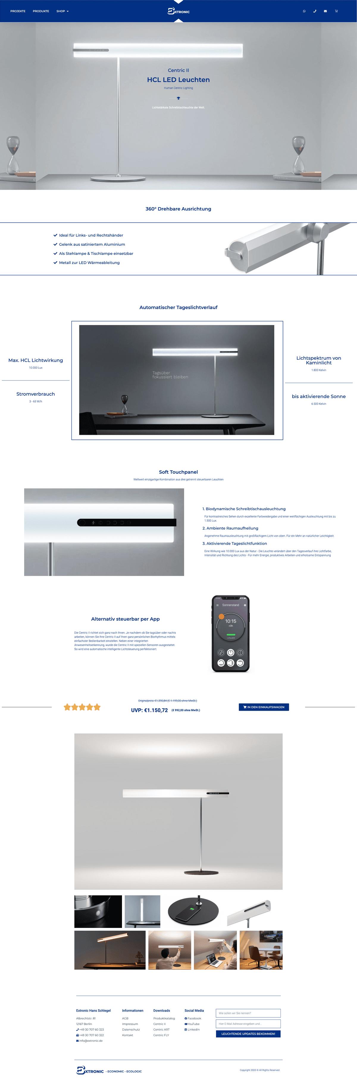 Webseiten-Layout 1 von extronic.de