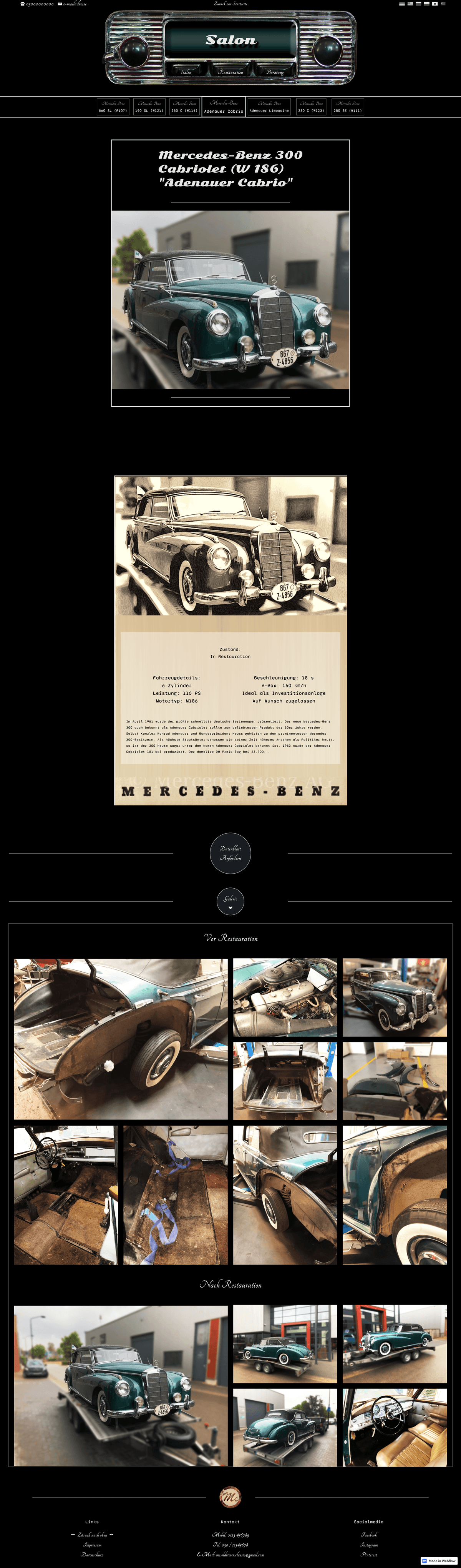 Webseiten-Layout 2 von mc-oldtimer-classic.com