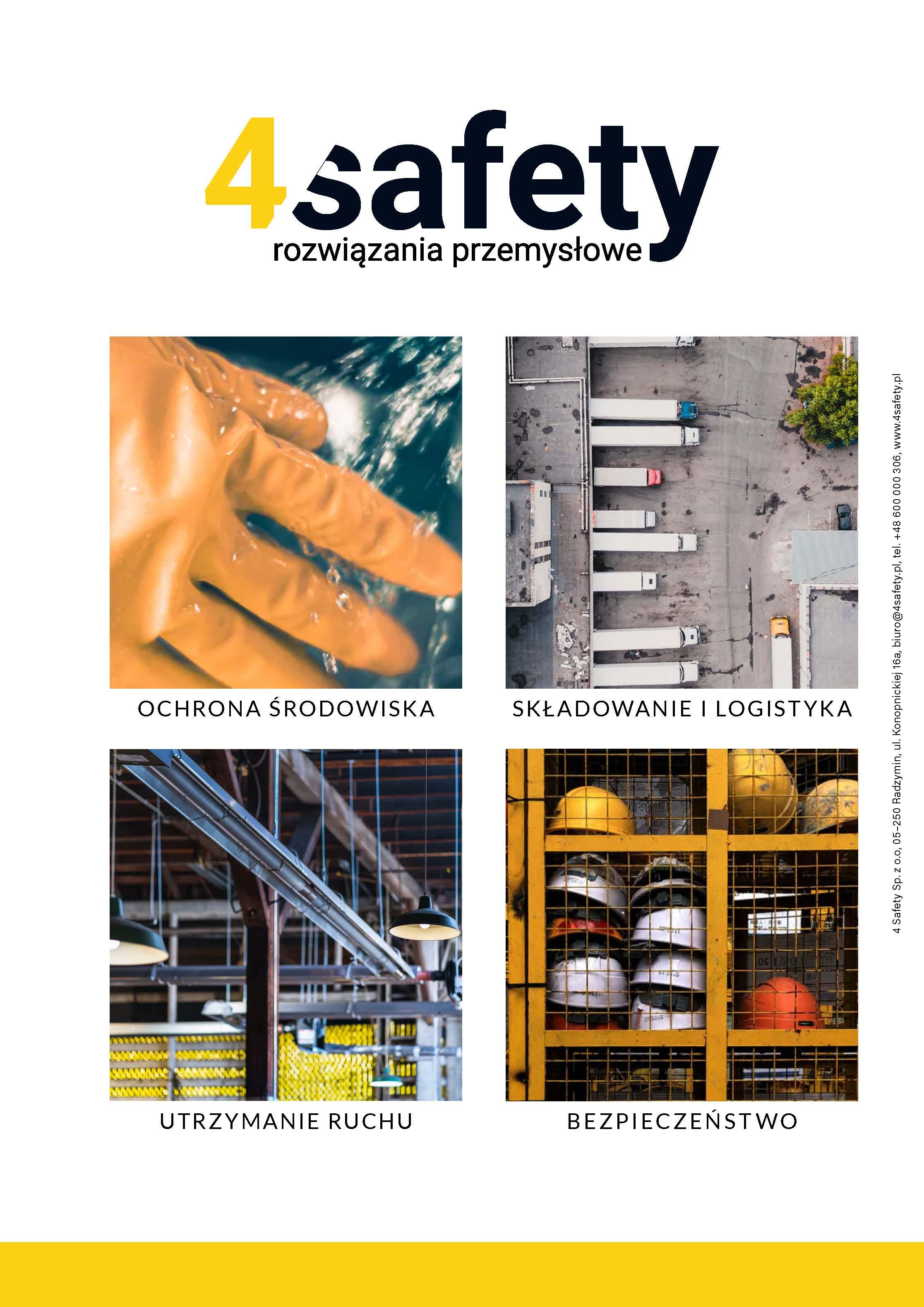 katalog produktowy 4safety rozwiązania przemysłowe