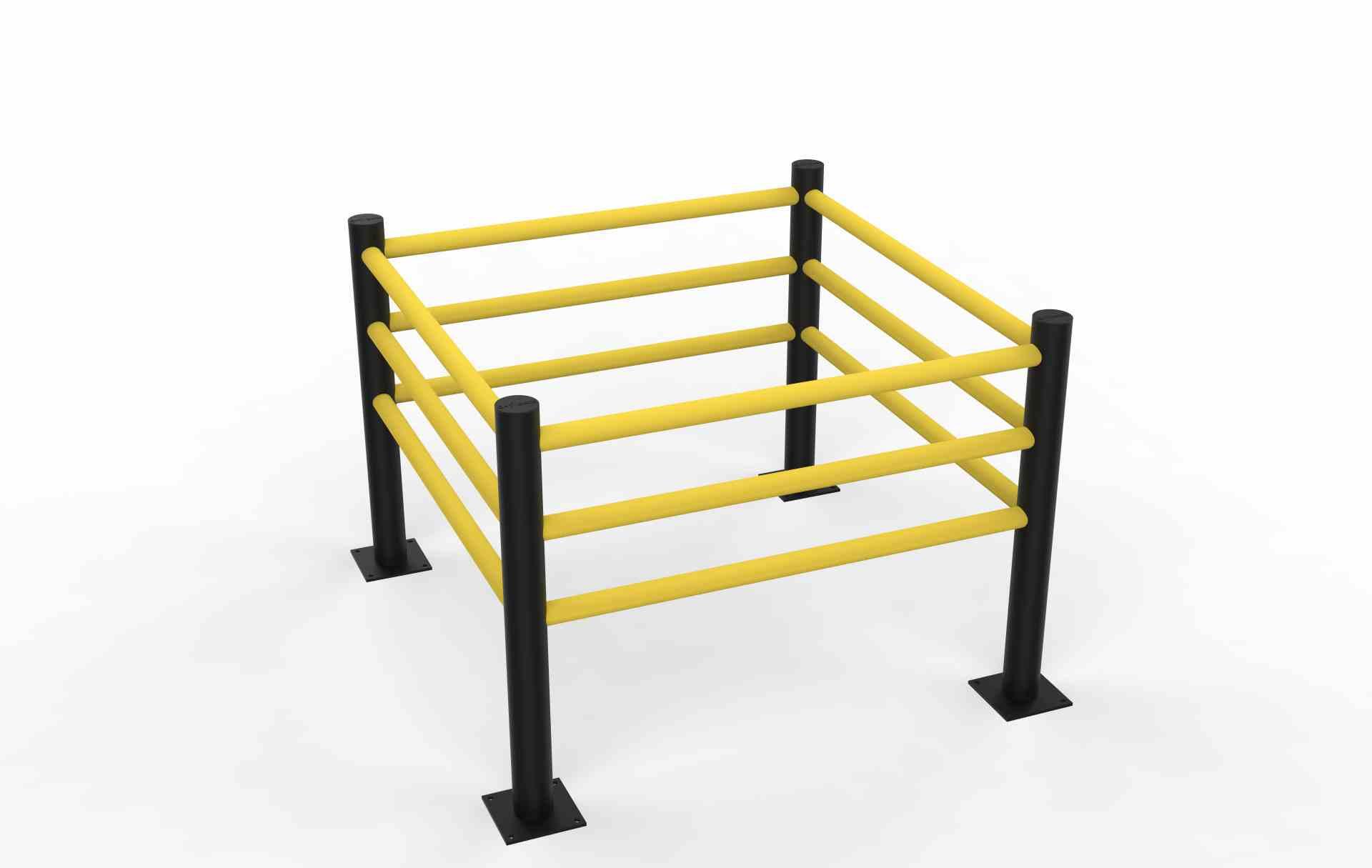 Modułowa elastyczna bariera do zabezpieczenia kolumn D