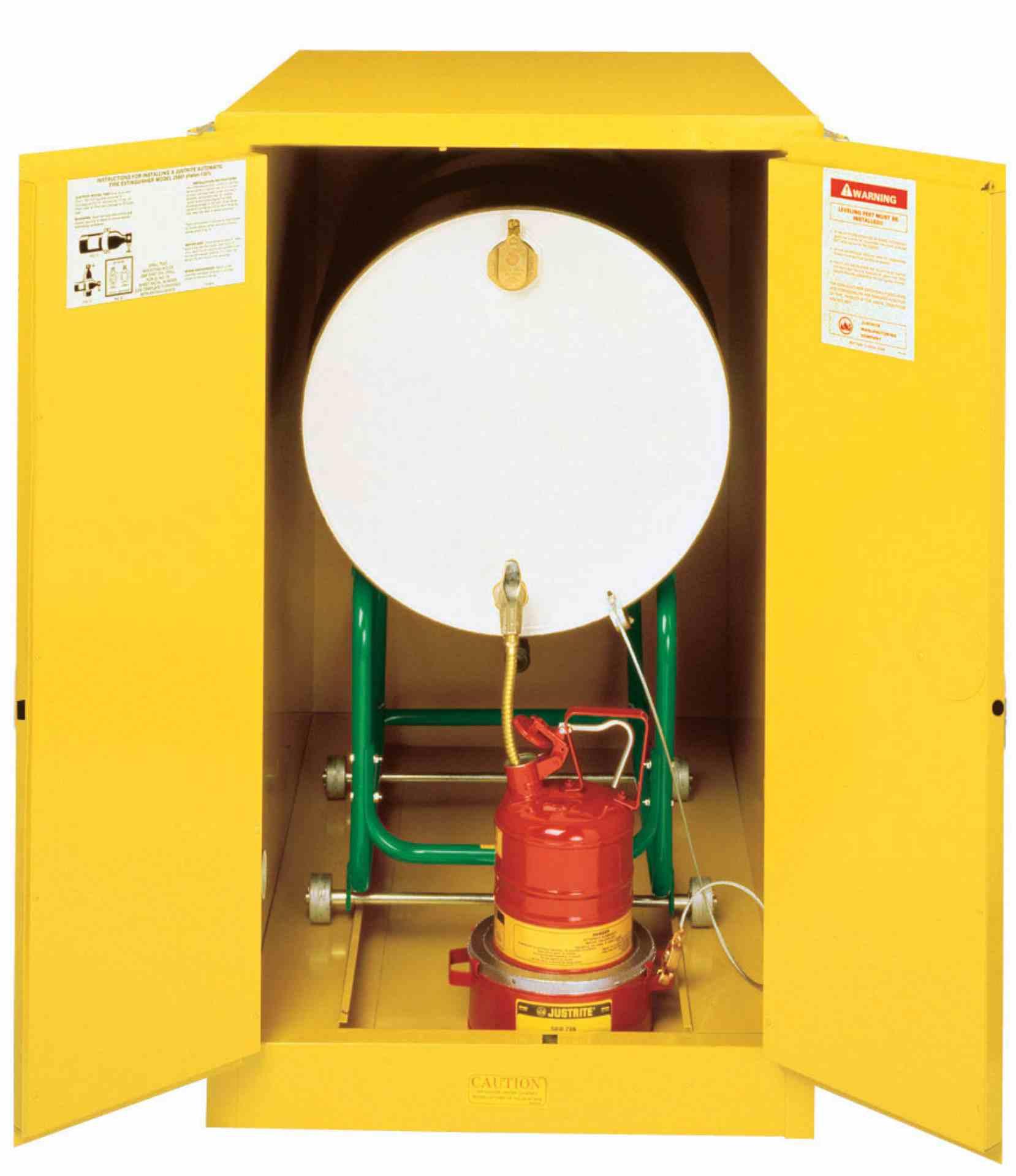 Szafa zabezpieczająca na 1 beczkę/poziom 200 l.dwudrzwiowa zamknięcie ręczne 1270 x 762 x 1219 mm