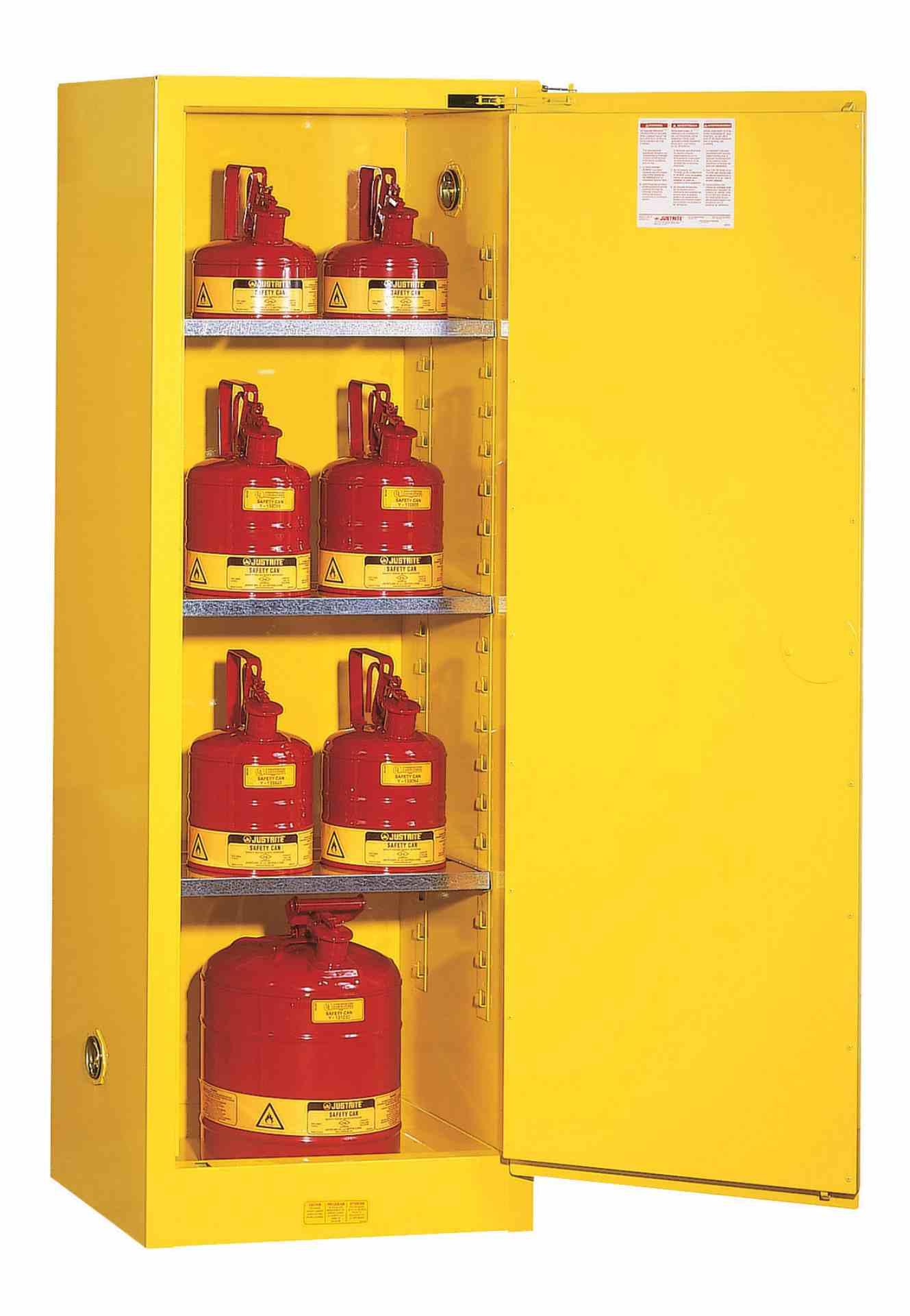 Szafa zabezpieczająca 83 l. jednodrzwiowa zamknięcie automatyczne 1651 x 591 x 457 mm