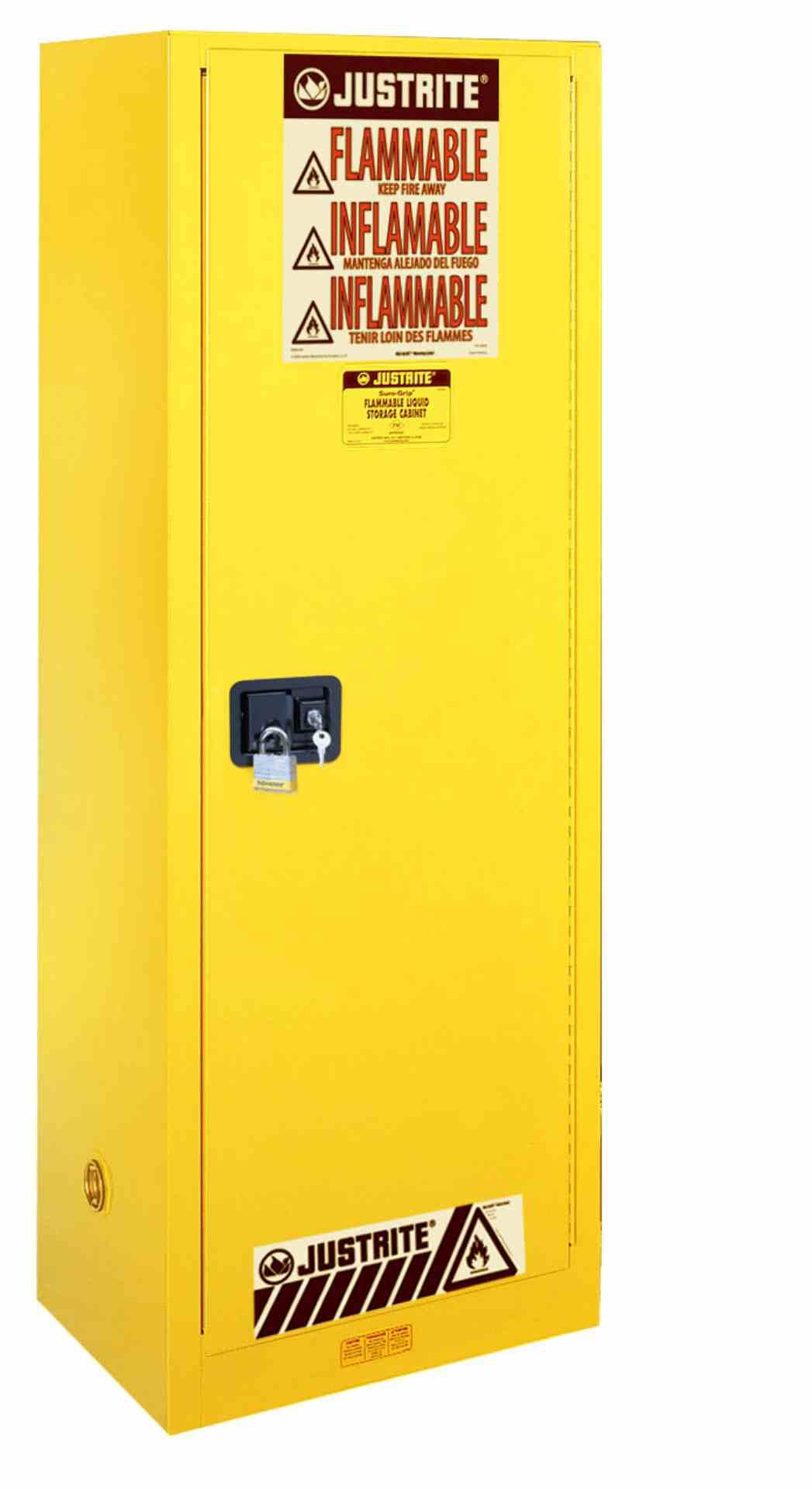 Szafa zabezpieczająca 83 l. jednodrzwiowa zamknięcie ręczne 1651 x 591 x 457 mm