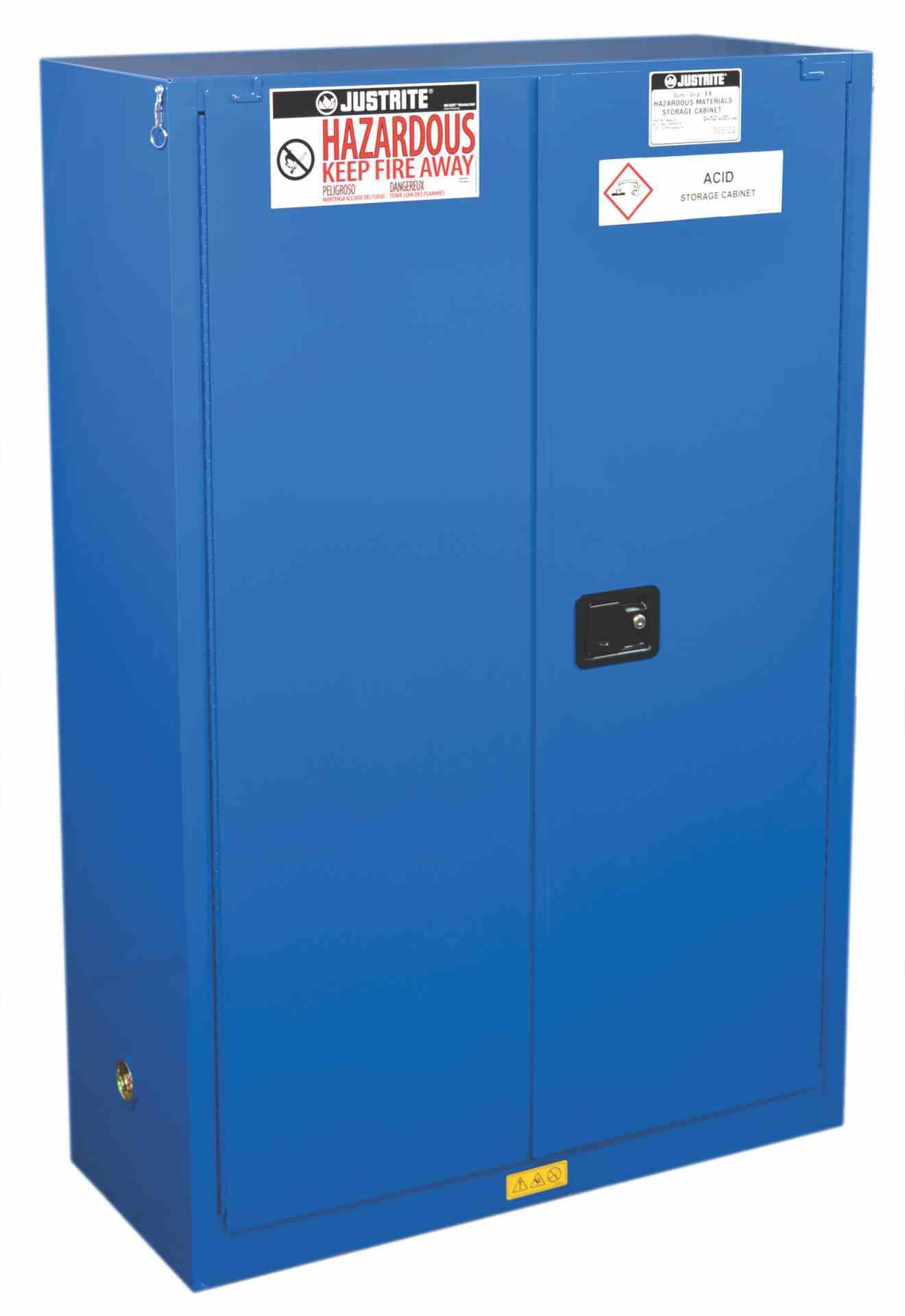 Szafa zabezpieczająca 170 l do materiałów niebezpiecznych zamknięcie automatyczne