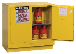 Szafa zabezpieczająca 83 l. podstołowa dwudrzwiowa zamknięcie automatyczne 889 x 559 x 889 mm, żółta