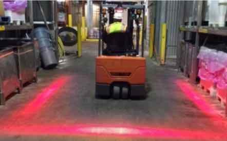 Projektor bezpieczeństwa LED 18W do wyświetlania linii przy wózkach widłowych