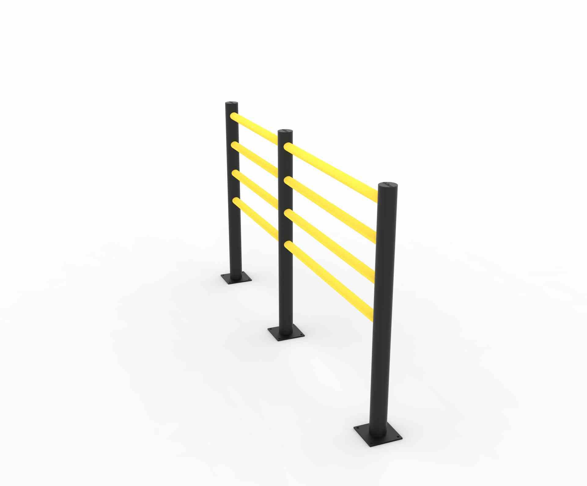 Modułowa elastyczna bariera do zabezpieczenia ciągów pieszych D