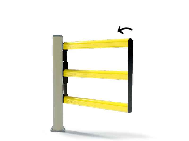 Bramka do bariery P2 jednoskrzydłowa jednostronna 600 mm