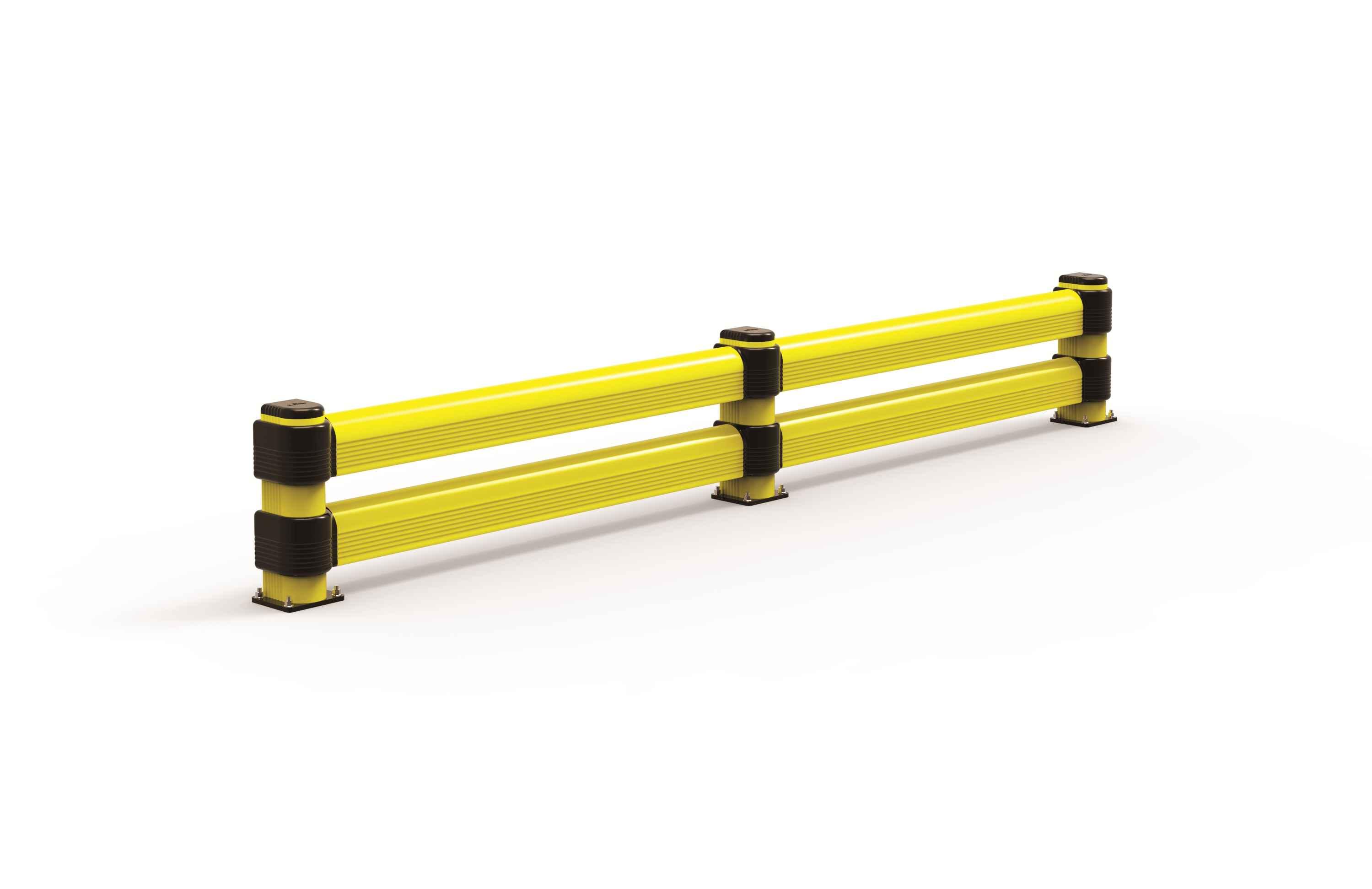 Modułowa elastyczna podwójna odbojnica szynowa L 500 mm x mb