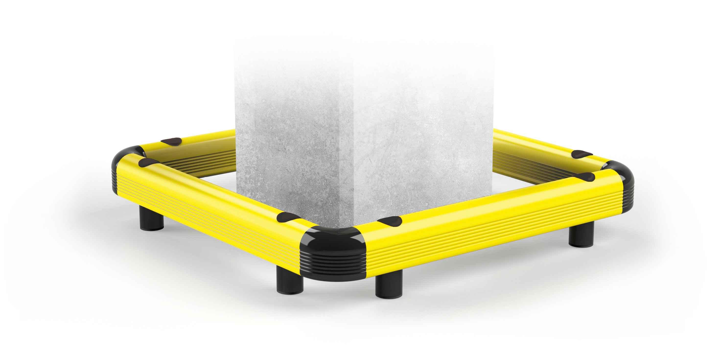 Modułowa elastyczna bariera podłogowa do ochrony kolumn C1 500 x 500 x 140 mm