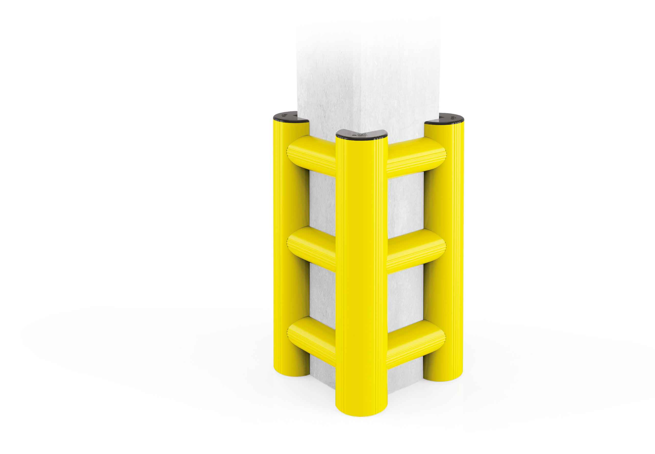 Modułowa elastyczna odbojnica do ochrony kolumn HT 500 x 500 x 1150 mm