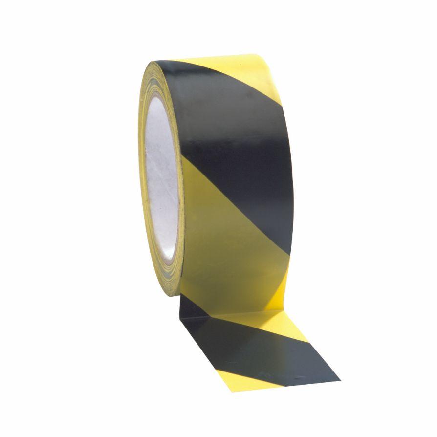Taśma do wyznaczania ciągów komunikacyjnych 100 mm x 33 m żółto-czarna