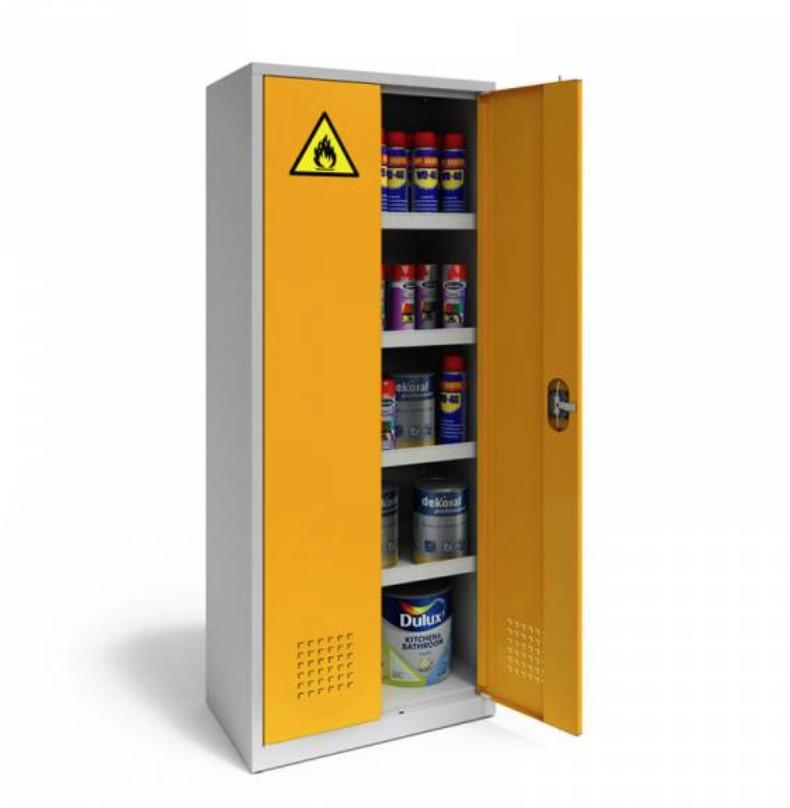 Szafa warsztatowa do substancji niebezpiecznych 730 x 420 x 1800 mm