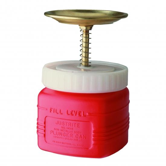 Pojemnik tłokowy polietylenowy, czerwony 1 l.