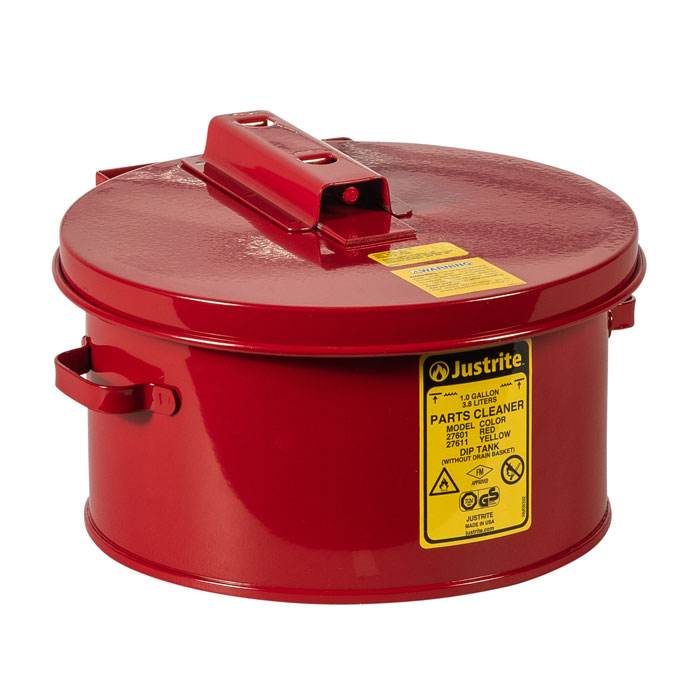 Pojemnik zanurzeniowy stalowy, czerwony 4 l.