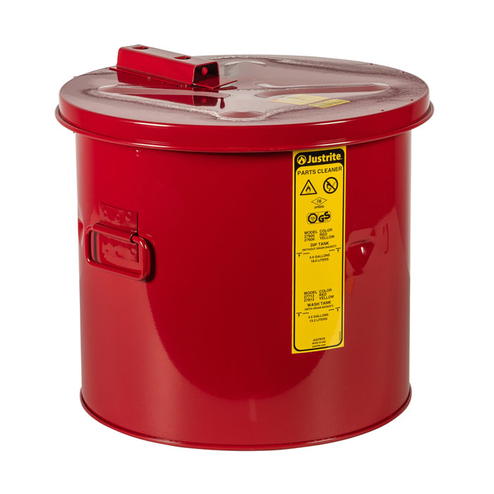 Pojemnik zanurzeniowy stalowy, czerwony 19 l.