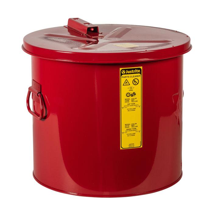 Pojemnik zanurzeniowy stalowy, czerwony 30 l.