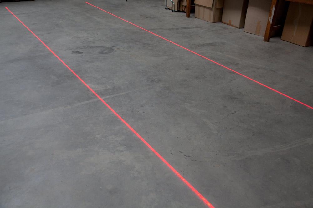 Laser bezpieczeństwa do wyświetlania linii czerwony