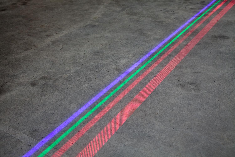 Laser bezpieczeństwa do wyświetlania linii niebieski