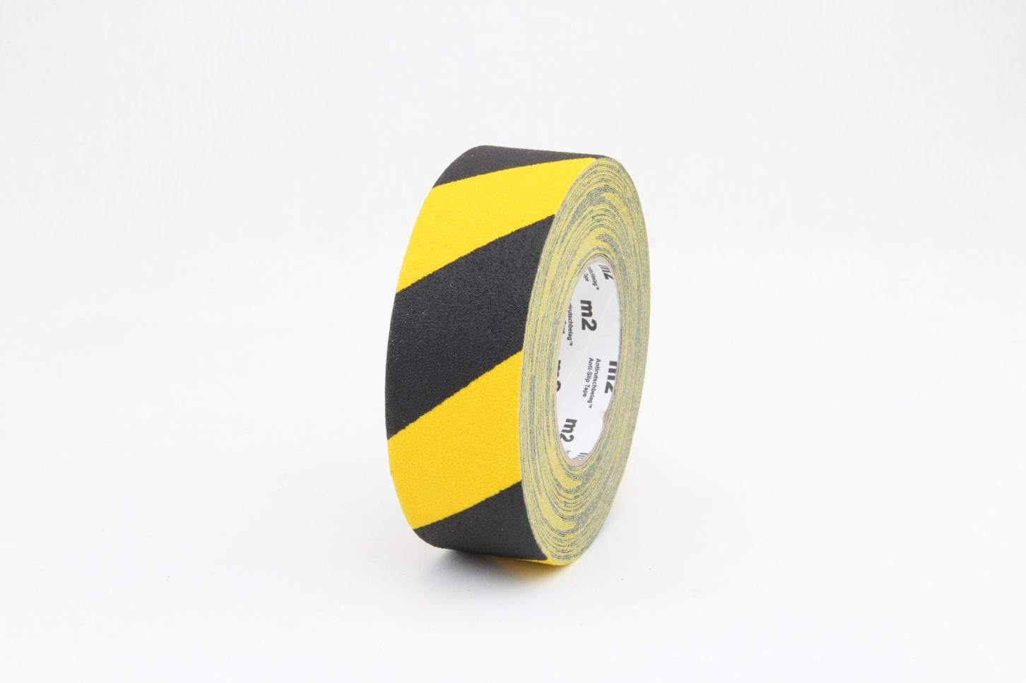 Taśma antypoślizgowa elastyczna żółto-czarna R13