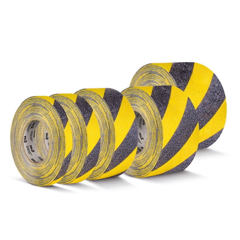 Taśma antypoślizgowa żółto-czarna R13, 50 mm x 18,3 m