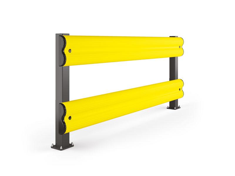 Modułowa elastyczna bariera do ochrony regałów podwójna BF 1100 x 1100 mm