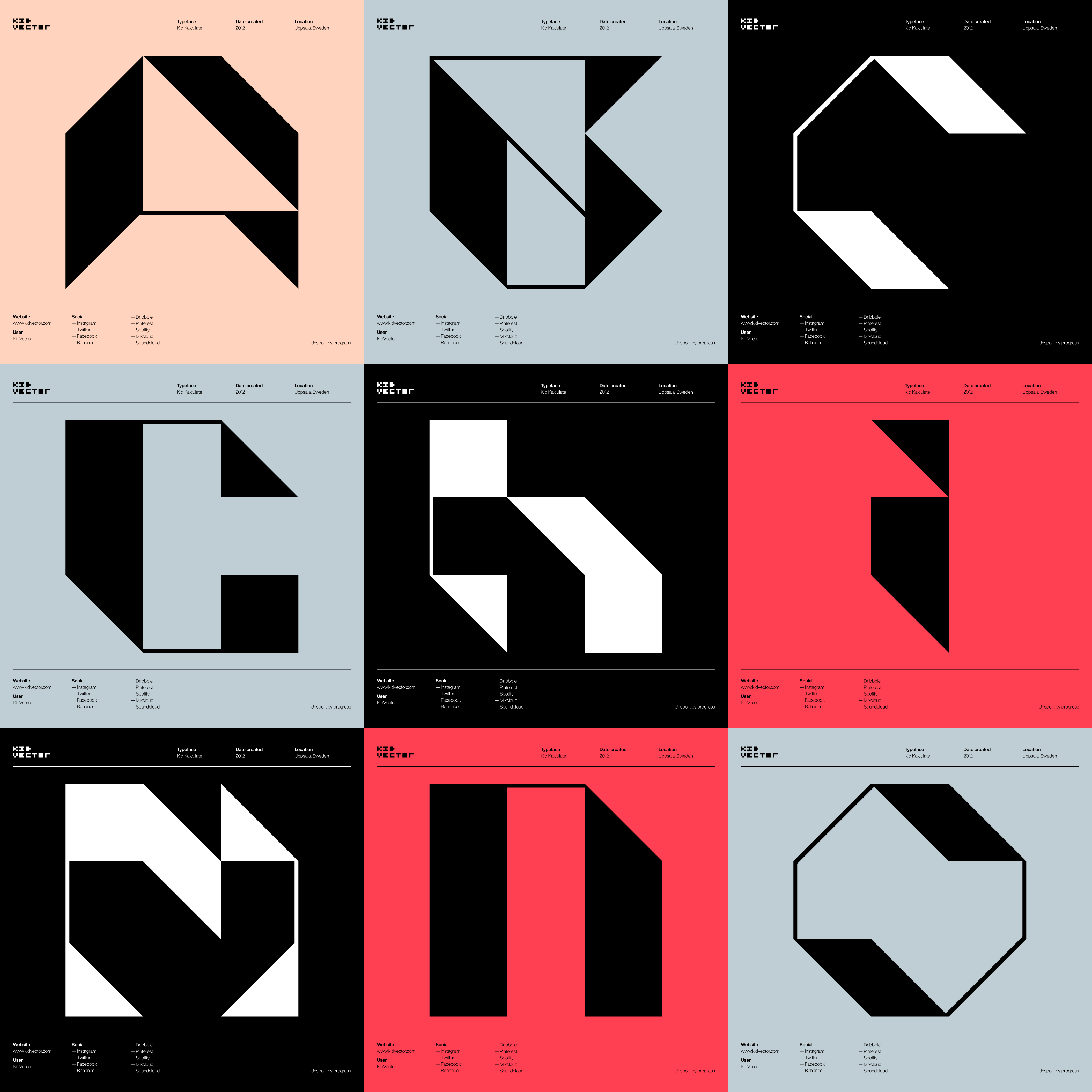 Kid Kalculate — 3 x 3 character grid 1
