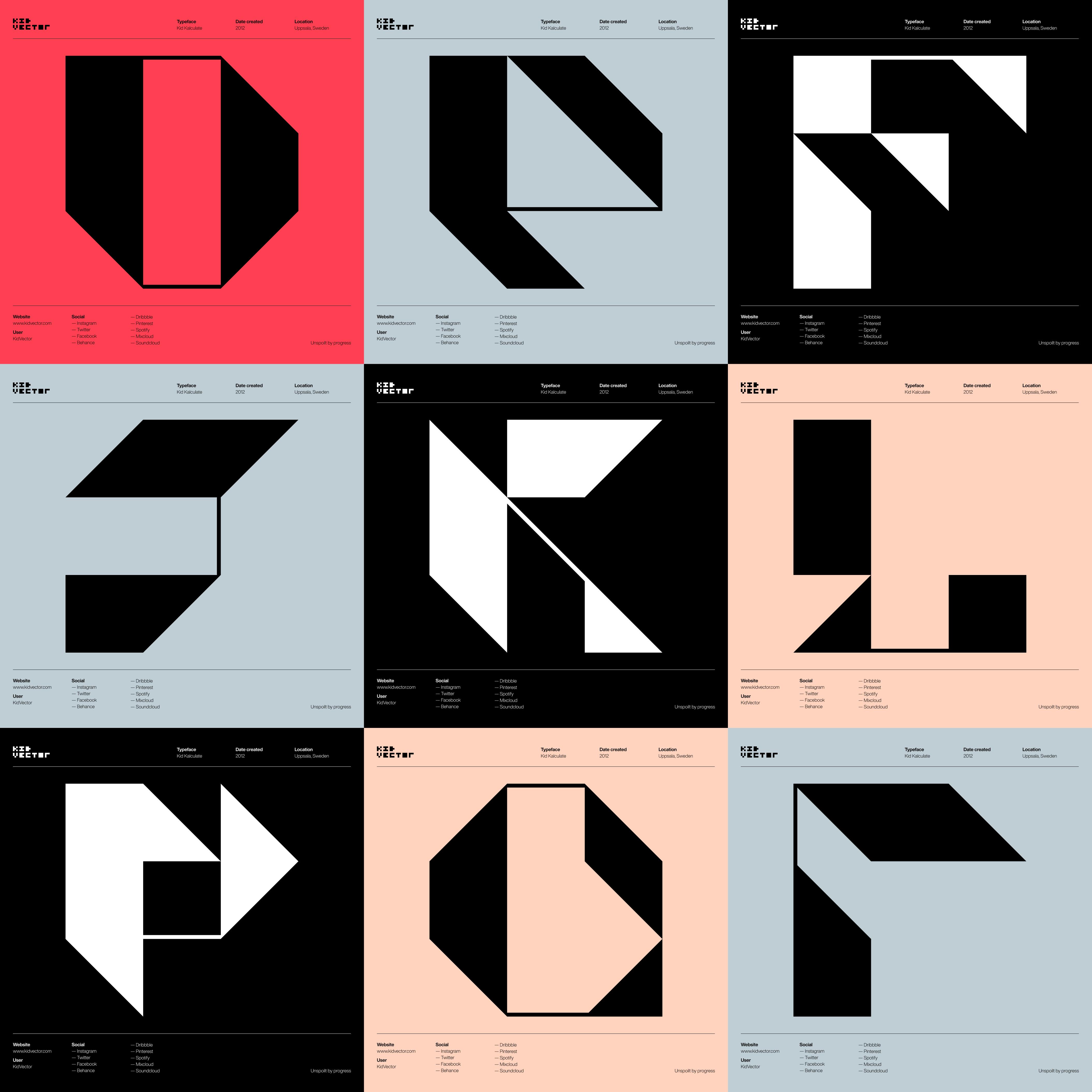 Kid Kalculate — 3 x 3 character grid 2