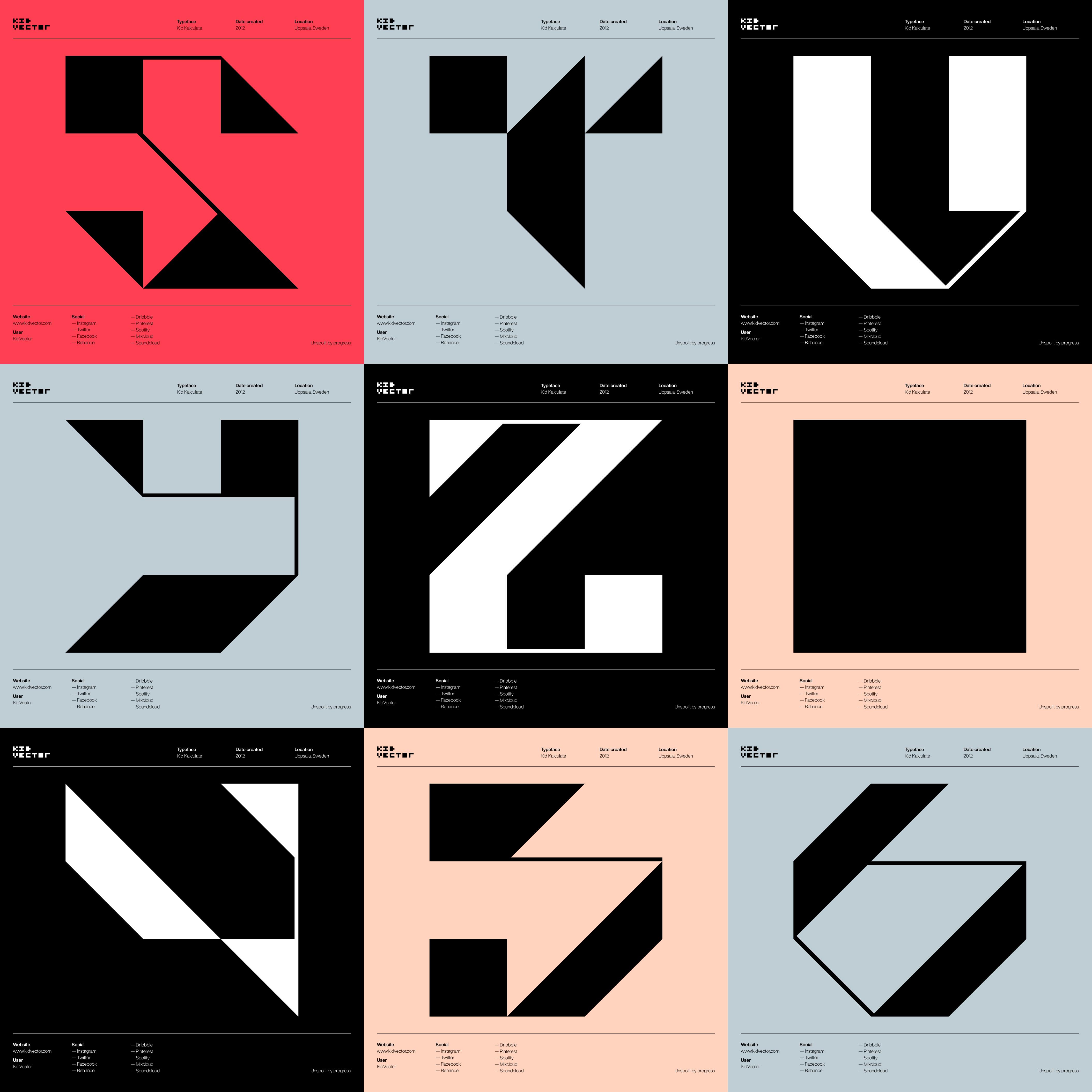 Kid Kalculate — 3 x 3 character grid 3