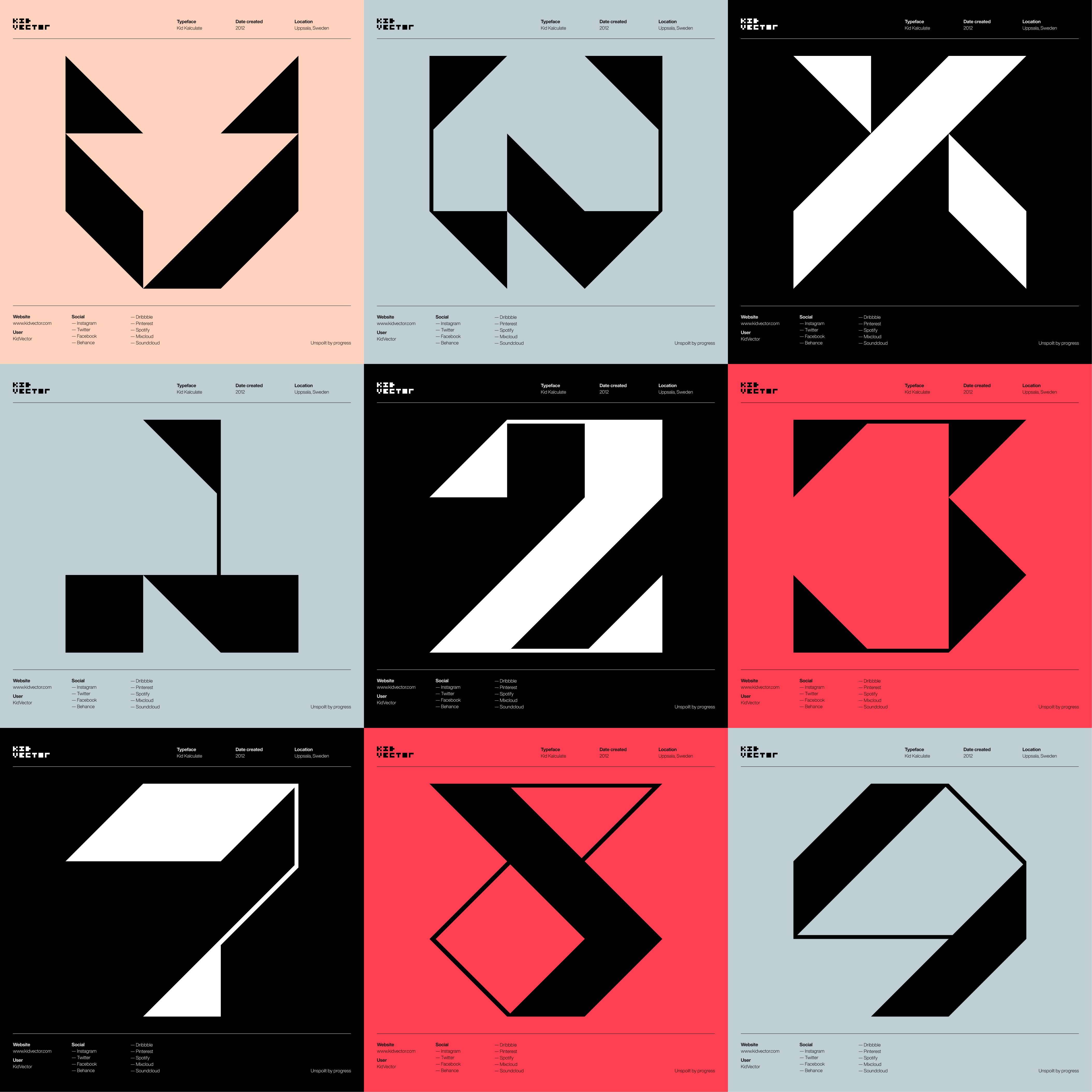 Kid Kalculate — 3 x 3 character grid 4
