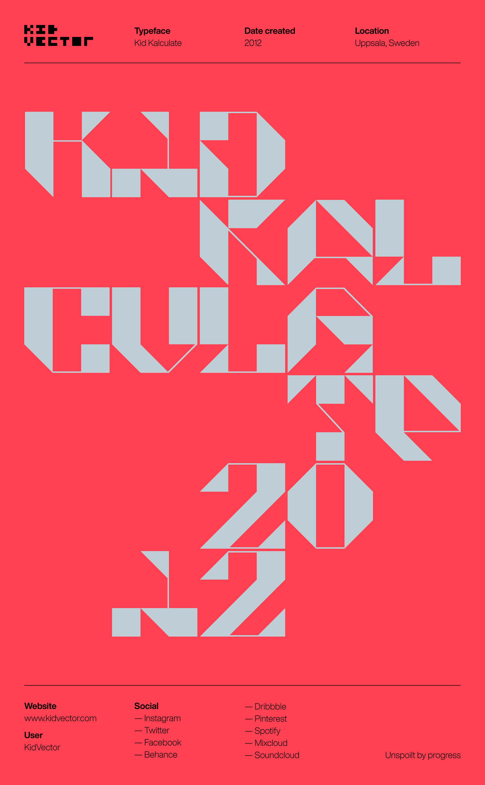 Kid Kalculate — Typographic poster 1