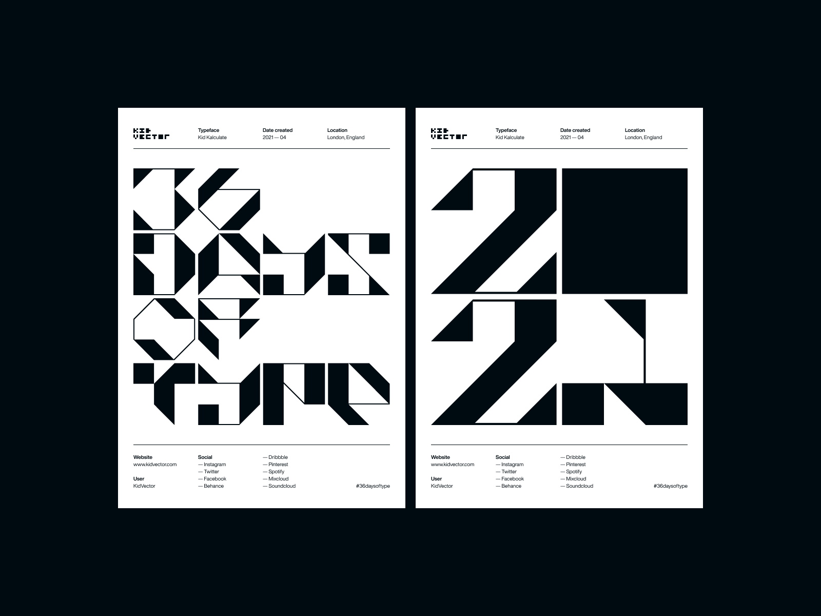 Kid Kalculate — 36 Days of Type Poster