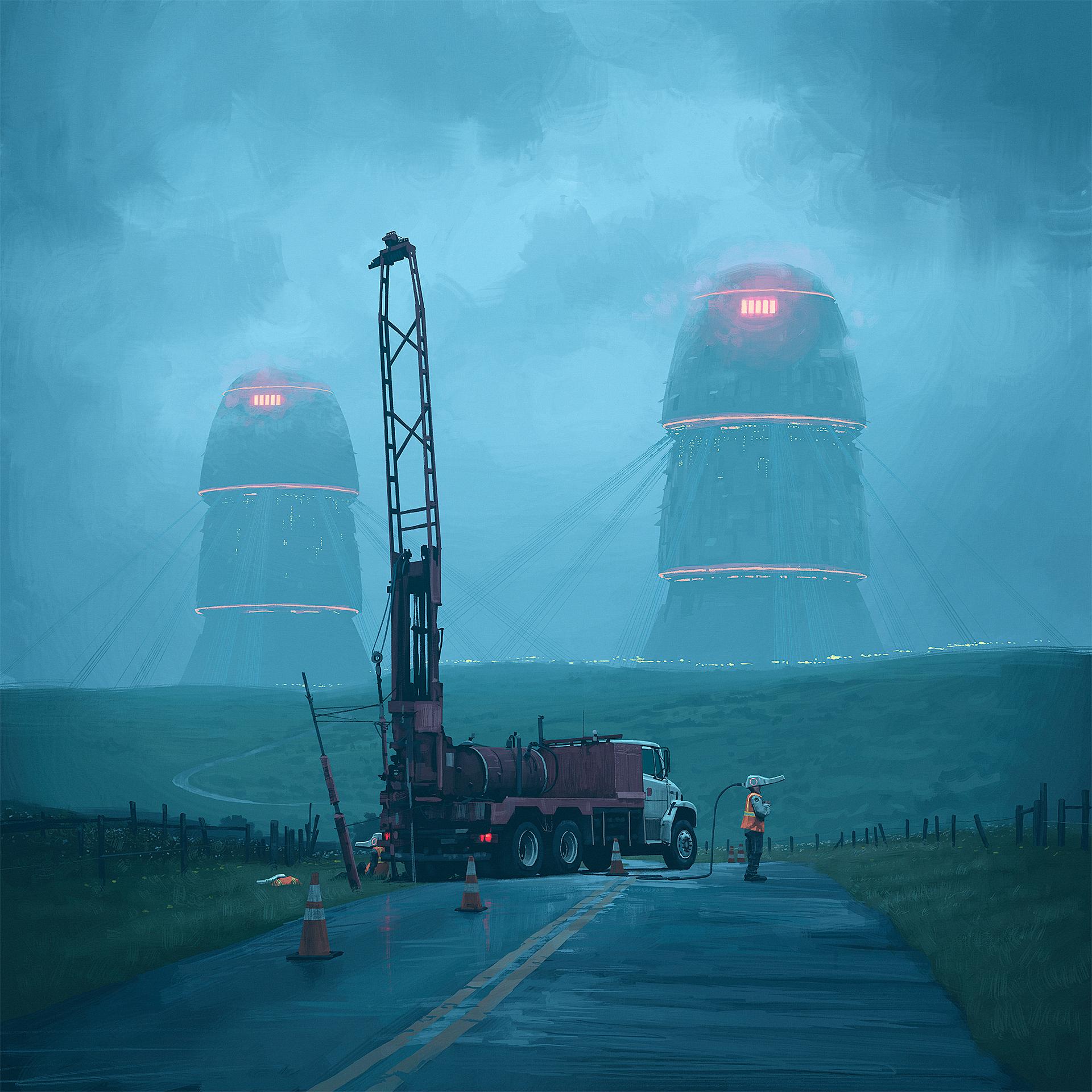 Simon Stalenhag - By Roadwork