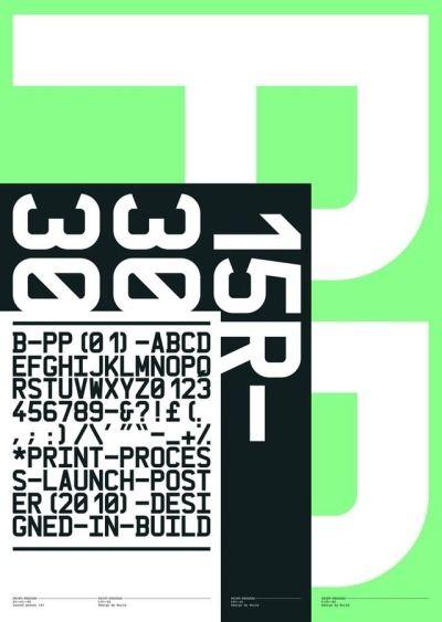 Build —Print Process Poster