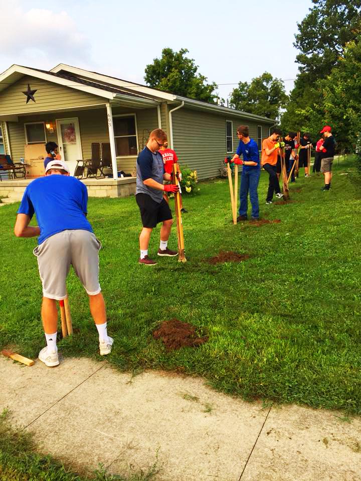 Fence Posts for Habitat Crawfordsville, Indiana
