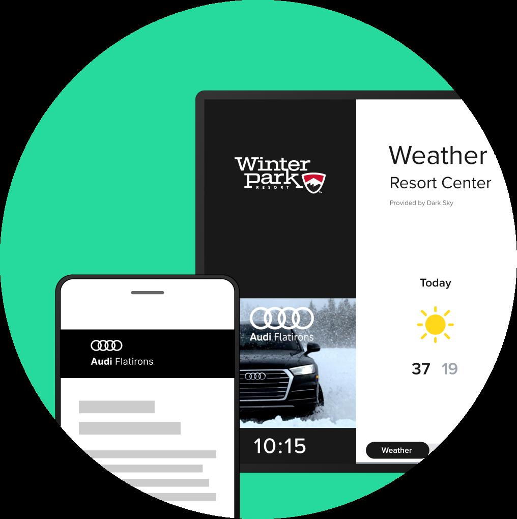 Alpine Media – advertise on displays, retarget on mobile