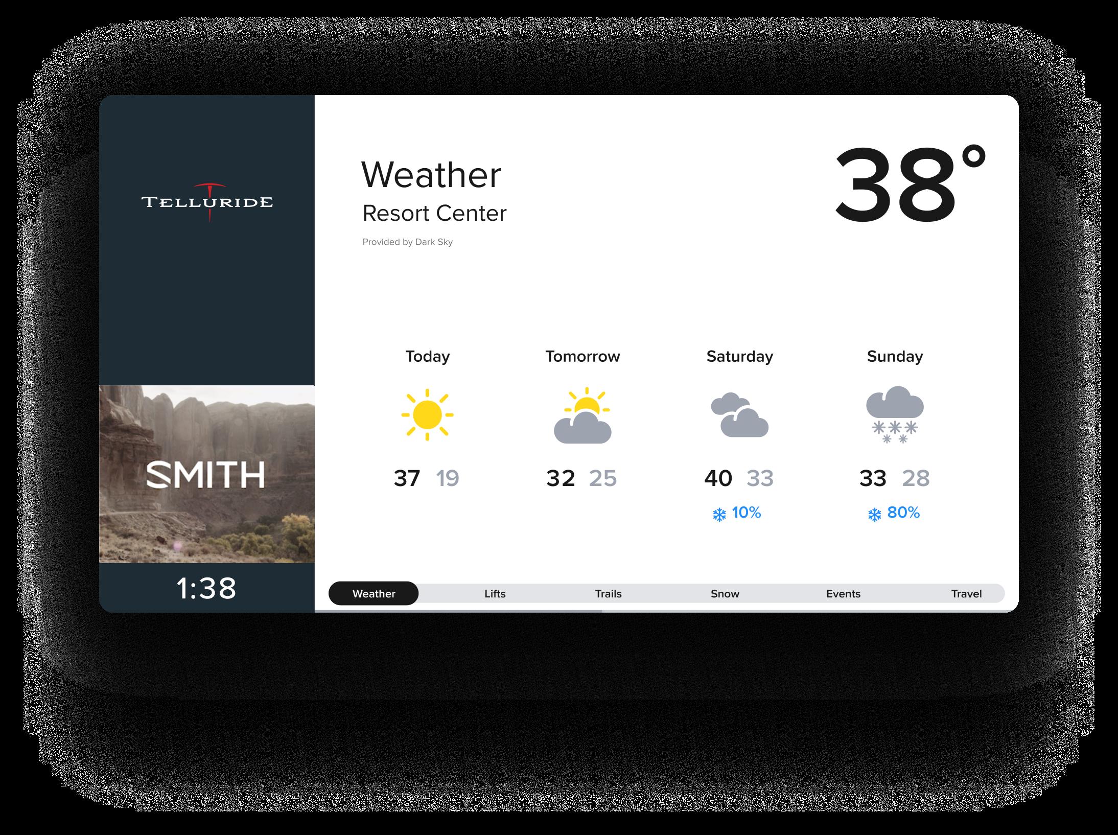Alpine Media - Telluride display - Weather - Smith Optics