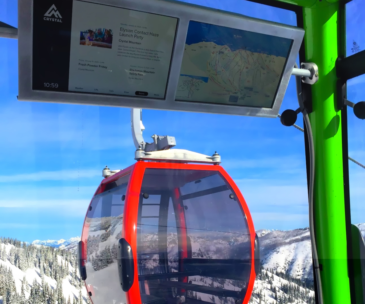 Alpine Media Gondola Lift Display – Crystal Mountain