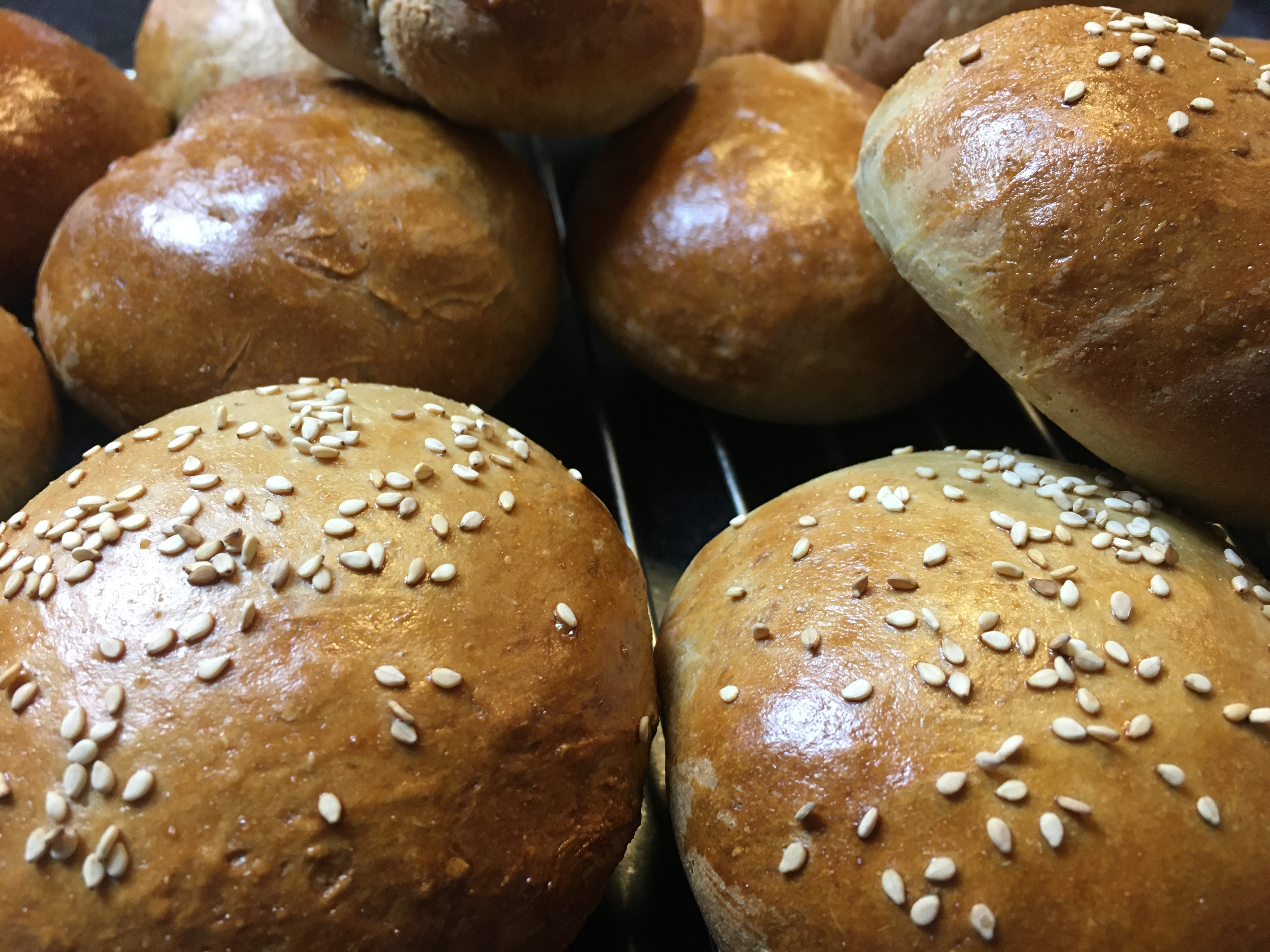 Burger buns with Agrain® 04 Maskmel Whisky