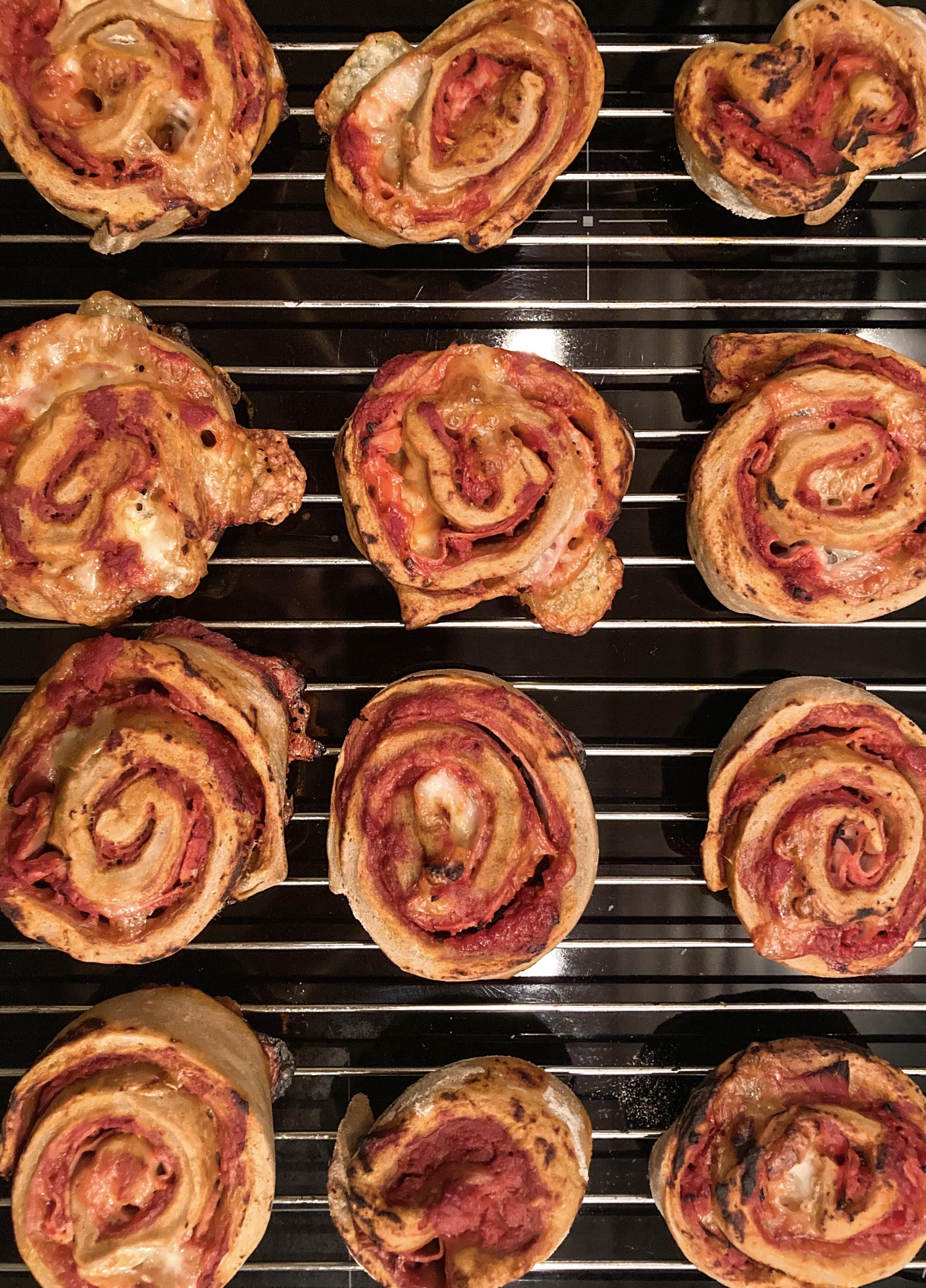 Pizza snails with Agrain® 02 IPA Super Grain Flour