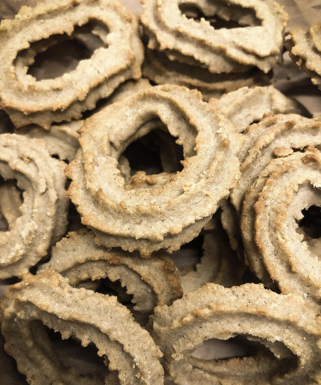 Vanilla wreaths with Agrain® 04 Whisky Mask flour