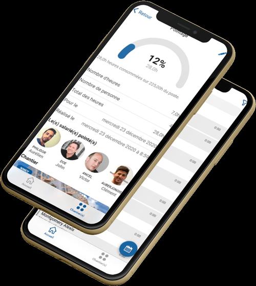 Effectuer une saisie des heures de pointage dans l'application mobile.
