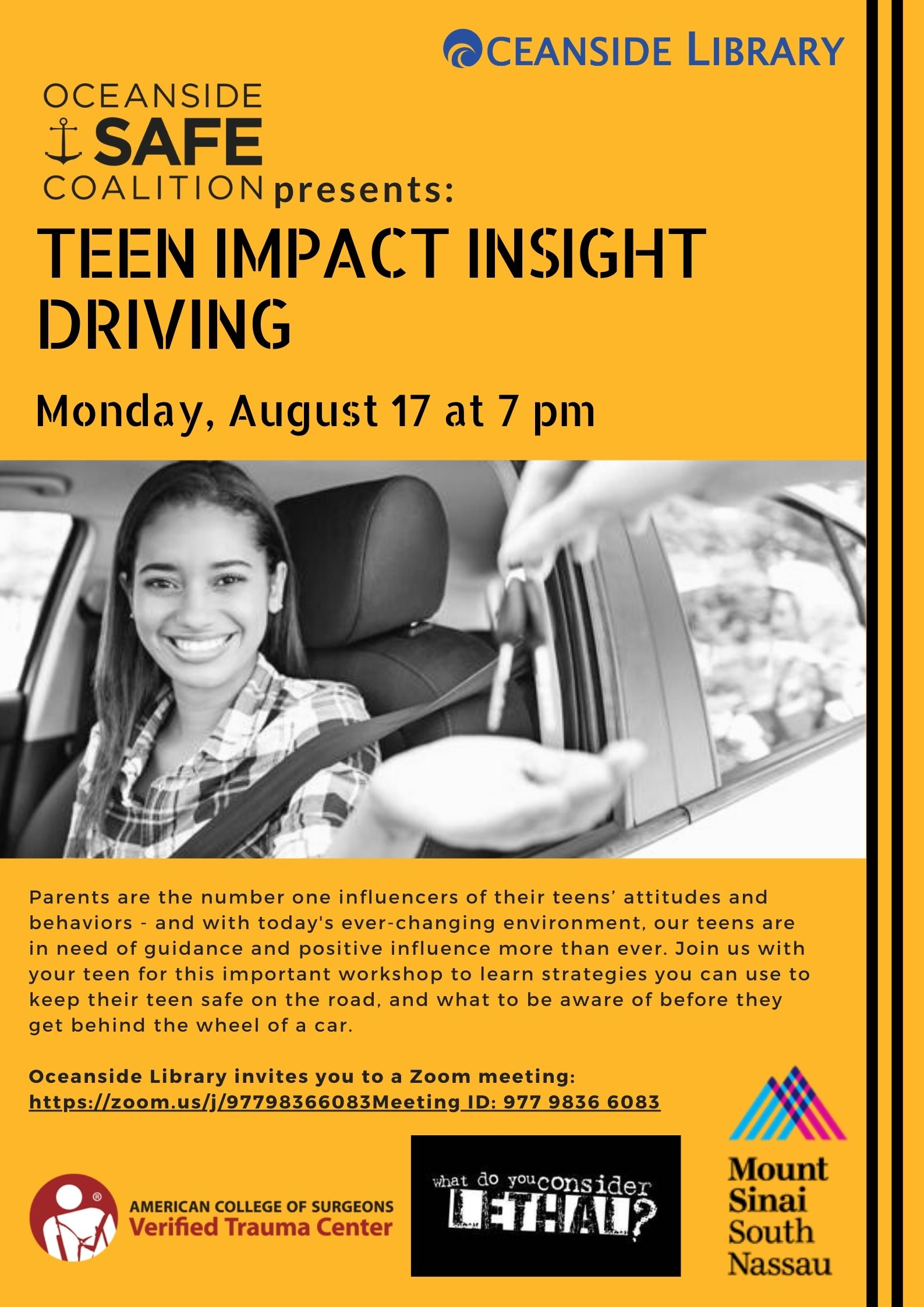Oceanside SAFE Coalition Presents: Teen Impact Insight Driving