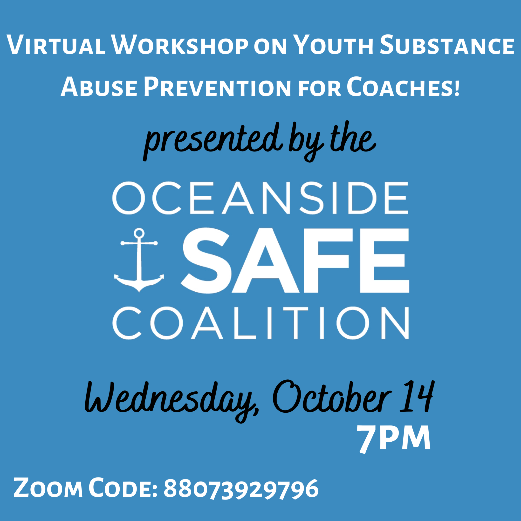Youth Substance Abuse Prevention Workshop for Oceanside Coaches