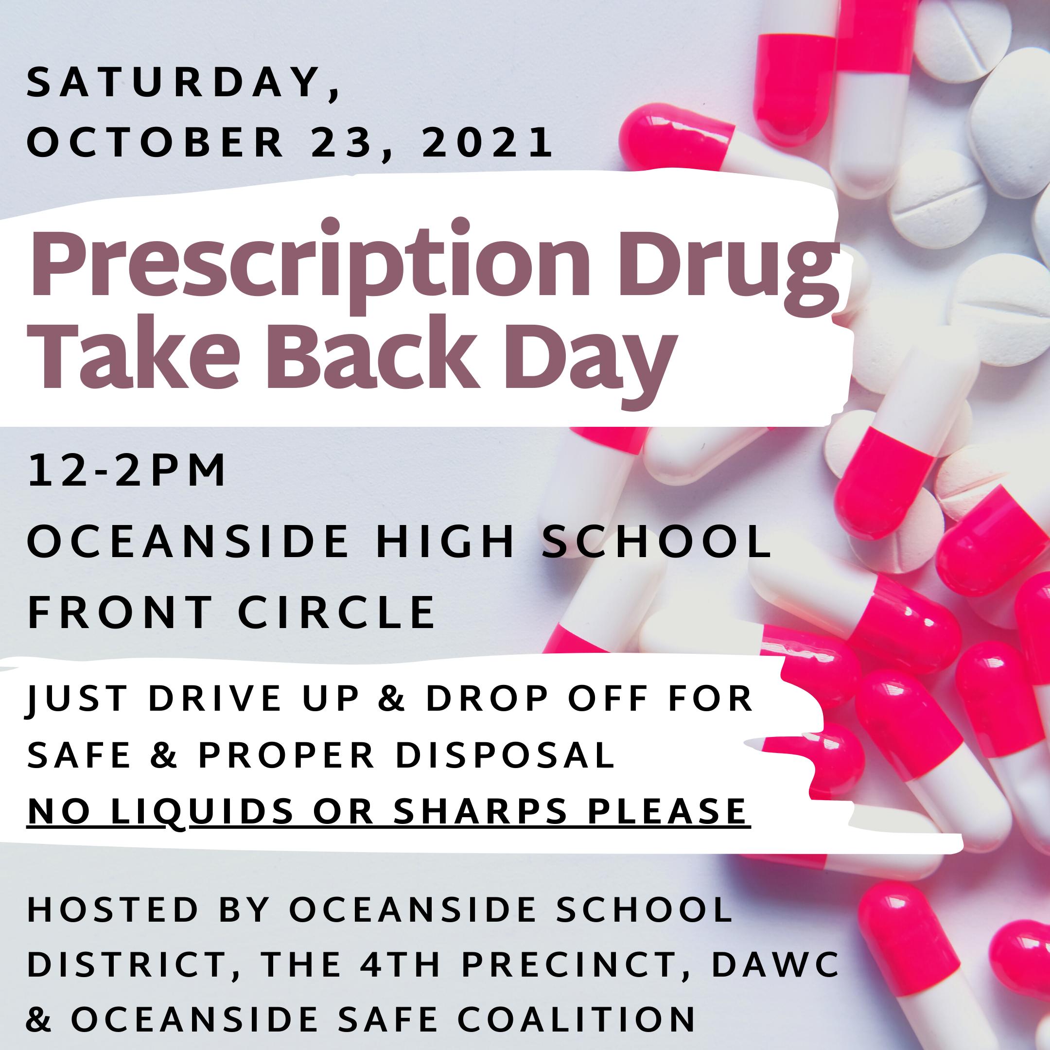 Drug Take Back Day - Kick off to Red Ribbon Week!