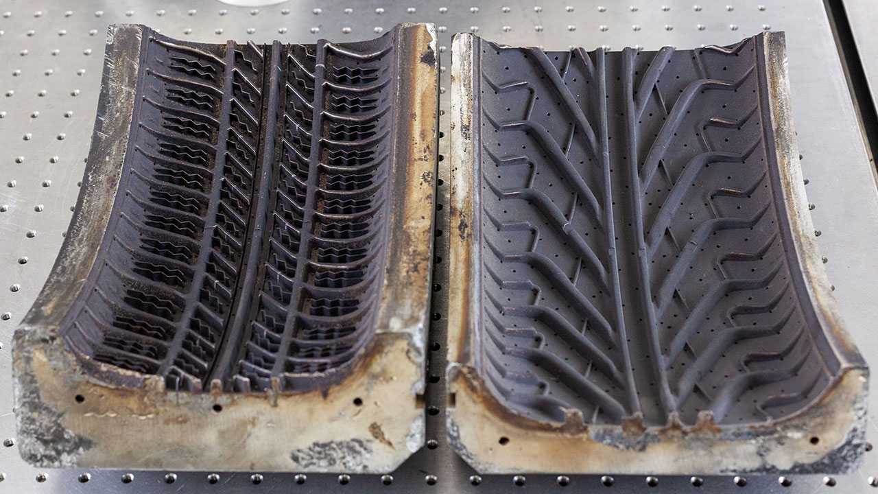 Tyre Moulds Courtesy of Kingpin Tyres, Wem